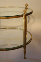 French 1950`s circular two tier side table - picture 3