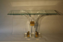 Lucite and glass console - picture 4