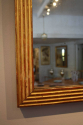 C19th Gilt wood reeded mirror - picture 4