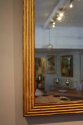C19th Gilt wood reeded mirror - picture 5