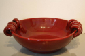 A sang de boeuf glazed ceramic Vallauris open bowl. French c1950 - picture 3