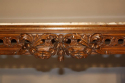 French Antique Carved Walnut Centre Table with Marble inset, c1900 - picture 3