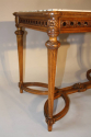 French Antique Carved Walnut Centre Table with Marble inset, c1900 - picture 4