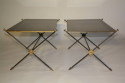 A pair of black vitrolite, crossed arrow 1950`s French end tables. - picture 5