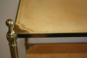 Leather two tier side table, French c1950 - picture 5