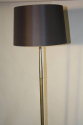 French 1950`s grey and brass metal floor lamp - picture 2