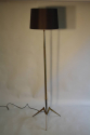 French 1950`s grey and brass metal floor lamp - picture 4