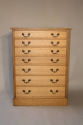 1920`s English Oak graduated seven drawer chest of drawers - picture 2