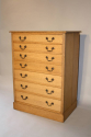 1920`s English Oak graduated seven drawer chest of drawers - picture 3