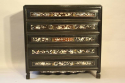 Ebonised and mother of pearl drawers - picture 3