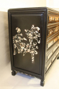Ebonised and mother of pearl drawers - picture 6