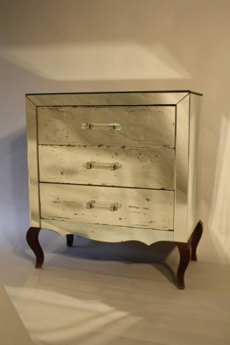 French mirrored chest of drawers
