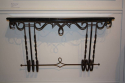 Metal wall console with black and white veined marble top, French c1950 - picture 1