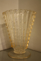Gold flecked and bubble Murano glass vase, Italian c1950 - picture 1