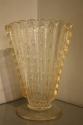 Gold flecked and bubble Murano glass vase, Italian c1950 - picture 1