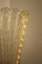 Gold flecked and bubble Murano glass vase, Italian c1950 - picture 2