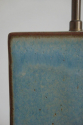 Pale blue/green glaze pottery table lamp. French c1950 - picture 2