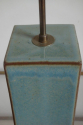 Pale blue/green glaze pottery table lamp. French c1950 - picture 3