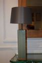 Pale blue/green glaze pottery table lamp. French c1950 - picture 5