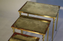 Brass and mirror nest of tables, French c1960 - picture 3