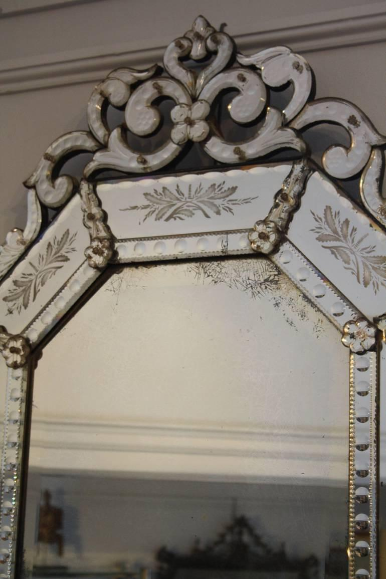 19th C Octagonal Venetian mirror