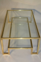 Pale gold metal two tier coffee table, Italian c1970 - picture 4