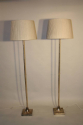 A pair of silver floor lamps by Valenti, Spanish c1950 - picture 2
