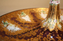19thC Venetian burgundy glass, gold and enamel bon bon dish - picture 1