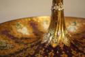 19thC Venetian burgundy glass, gold and enamel bon bon dish - picture 3