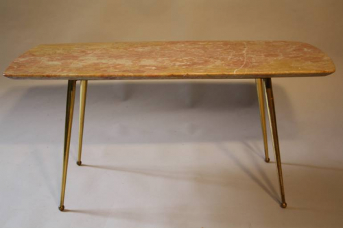 Classic Italian marble topped coffee table, c1950