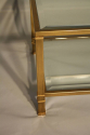 Pale gold metal two tier coffee table - picture 3