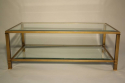Pale gold metal two tier coffee table - picture 5