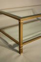 Pale gold metal two tier coffee table - picture 6