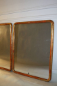 A pair of C19th narrow edge gilt framed mirrors with mercury plate. - picture 2