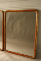 A pair of C19th narrow edge gilt framed mirrors with mercury plate. - picture 4
