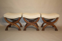 Three carved wood Lion feet stools - picture 1