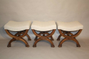 Three carved wood Lion feet stools - picture 2