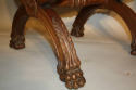 Three carved wood Lion feet stools - picture 3