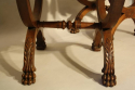 Three carved wood Lion feet stools - picture 4