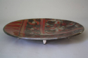 A large red and silver work ceramic plate - picture 4