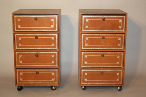A Pair of Leatherette Cartonniers