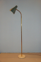 1950`s Italian floor lamp. Dark green metal adjustable shade with marble base - picture 1