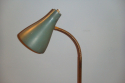1950`s Italian floor lamp. Dark green metal adjustable shade with marble base - picture 2