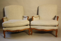 A pair of carved wood French fauteuils - picture 2