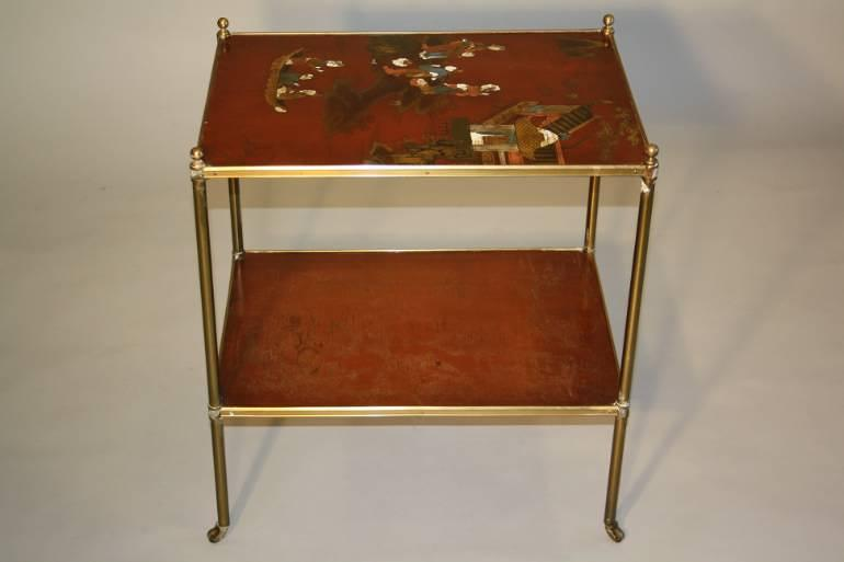 Elegant Chinoiserie side table, French c1950