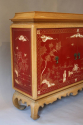 A pagoda Oak cabinet with carved doors depicting Chinese scenes, French c1940 - picture 3