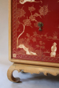 A pagoda Oak cabinet with carved doors depicting Chinese scenes, French c1940 - picture 5