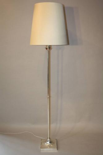 Silver floor lamp