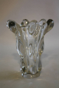 Tall twisted Art de Vannes crystal glass vase c1960 - picture 2