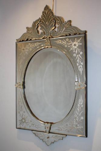 19thC Venetian mirror.